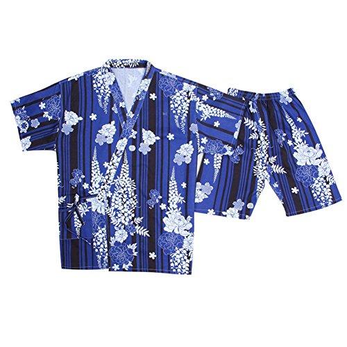 Blancho Kimono Style Pyjamas Court Pyjamas Suit lâche Home Wear Khan à Vapeur Pyjamas