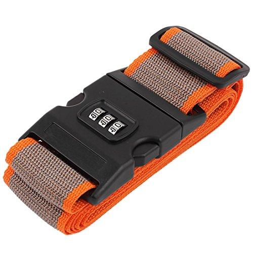 Nylon Reise-Gepäck-Koffer-Kennwort-Verschluss-Gurt-Bügel-Band-orange