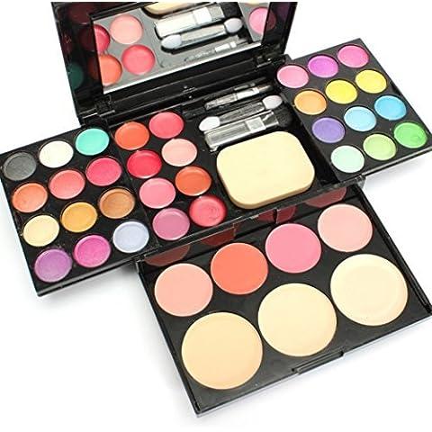 Ungfu Mall Lip Gloss Ombretto Fard Polvere Fondazione Puff Makeup
