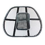 CamKpell Sedia Massaggio Schienale Supporto Lombare Mesh Ventilato Cuscino Cuscino Seggiolino per Auto Massaggio Relax per Il Supporto del Massaggio in Auto, in Ufficio o in casa
