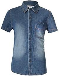 Naughty Ninos Boys Denim Short Sleeve Shirt For 2 to 14 Years