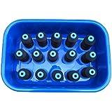 Sampada Synthetic Unbreakable Rectangular Multipurpose Plastic Bucket Basin Tub (Blue)