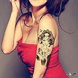 "Tatouage Temporaire ""Japanese Girl"" - ArtWear Tattoo Women - B0021 M"