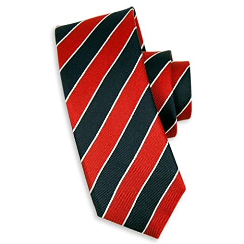 Charles Wilson Premium Silk Tie (Newlands navy & red stripe