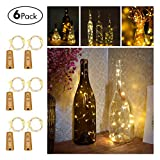 Picture Of FairyDecor Wine Bottles String Micro Artificial Cork Copper Wire Starry Fairy, Battery Operated Lights for Bedroom, Parties, Wedding, Decoration(6 Packs 2m/7.2ft Warm White)
