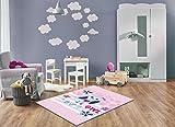 Keymura Moderner Teppich mit schönem Druck/Design Love Eule Owl | Größe: 120x170 cm - Qualität, Design, Modern zu einem Hammerpreis! Für Kinderzimmer, Wohnzimmer, Flur, Schlafzimmer geeignet!