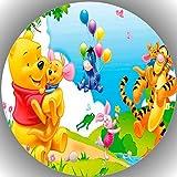 Fondant Tortenaufleger Tortenbild Geburtstag Winnie Pooh N13