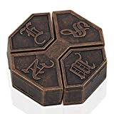 ybbghio Niños Puzzle Box Alloy Lock, Adult Stress Reliever Educational Brain Teaser IQ Test Game Toy