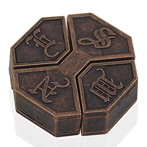 jEZmiSy Puzzle Box, Kinder Erwachsene Legierung Sperren Lehrreich Gehirn Teaser Intelligenztest Spiel Spielzeug