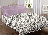 #7: AURAVE Multicolor Floral Design Pattern Reversible Premium Cotton Duvet Cover/Quilt Cover -Single Size