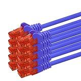 0,25m - blau - 10 Stück CAT 6 Netzwerkkabel Patchkabel 1000 Mbit RJ45 Stecker kompatibel zu CAT5e CAT5 CAT6 CAT7 Dsl Internet Router