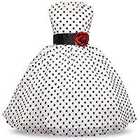 KOKQSX-Ropa de niños Vestidos Faldas de los niños es la Princesa Blanco 110cm