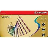 Premium-Buntstift - STABILO Original - 12er Metalletui - mit 12 verschiedenen Farben