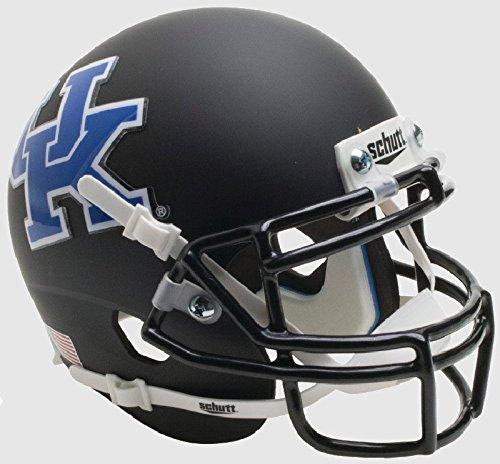 Schutt NCAA Kentucky Wildcats Mini Authentic XP Fußballhelm, Unisex, NCAA Kentucky Wildcats Mini Authentic XP Football Helmet, Matte Black 2016 Alt. 5, Mini