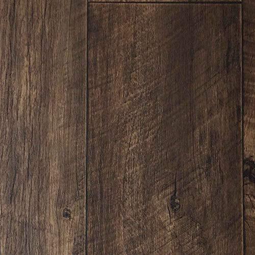 PVC-Bodenbelag XL Holzdielenoptik Rustikal Dunkelbraun | Vinylboden in 2m Breite & 3m Länge | Fußbodenheizung geeignet e PVC Planken | Stark strapazierfähiger Fußboden-Belag | Made in Germany -