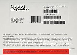 Microsoft Windows 7 Professional Sp1 - Licencia Y Soporte OEM, Español, 1 PC, 32-Bit (B004Q86D8U) | Amazon price tracker / tracking, Amazon price history charts, Amazon price watches, Amazon price drop alerts