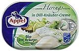 Produkt-Bild: Appel Heringsfilets, zarte Fisch-Filets in Bio-Dill-Kräuter-Creme, MSC zertifiziert, 200 g