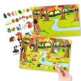 Bilder und Aufkleber Waldtiere für Kinder als Bastel- und Deko-Idee für Jungen und Mädchen (4 Stück)
