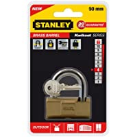 Stanley 81122371401 Barrel High Security Lucchetto in Ottone, 50 mm