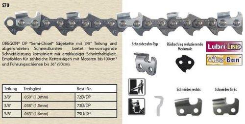 Oregon Sägekette Halbmeißel 3/8 1,6mm 40cm 60 TG