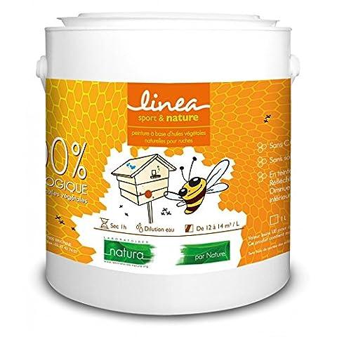 Peinture pour ruche 100% écologique aluminium 1 litre