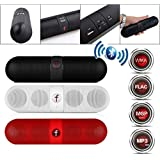 JKM Pill Shaped Portable Wireless Bluetooth Stereo Speaker Supported FM Radio, Aux Input And SDCard With Built-in Microphone For Hands-free Calling Compatible With Xiaomi Mi, Lenovo, Apple, Samsung, Sony, Lenovo, Oppo, Vivo And ALL Other Smartphones (, Co