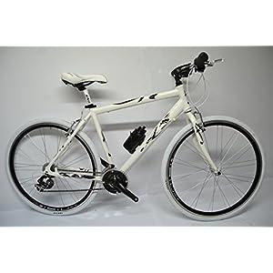 51elXO4Vs5L. SS300  - bicicletta corsa ibrida strada trekking alluminio 21v bianca nera grigio