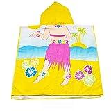 APERIL Toalla de baño en la Playa con Capucha para niños pequeños - Sirena Suave Secado rápido Piscina en la Piscina Poncho Cabo para niñas Niños