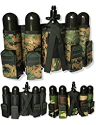 "CKSN deniable-ops 4 + 1 ""Recon ligero Paintball Pot y tankholder unidades. 3 colores Paintball escenario mil-sim Woodsball, mujer hombre, Recon, Camuflaje, One Size, Adjustable 26""-44"" Waist"