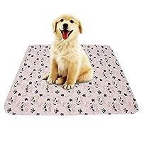 Smandy Pet Pee Pad, 3 Sizes Reusable Waterproof Puppy Dog Cat Pee Pads Bed Carpet Washable Absorbent Pet Trainging Pads Dog Urine Mat(80 × 90cm)