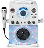 Singing Machine SML-385 Karaoke Machine Party Pack with 3 CD+G's Discs - White