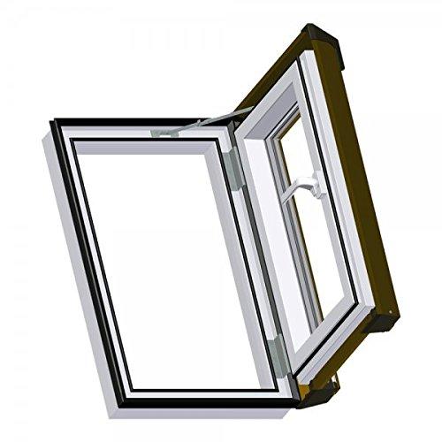 Dachfenster Dachluke Ausstiegsfenster Skylight Kunststoff incl. Eindeckrahmen 45x73cm