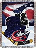 Northwest NHL Acryl Tapisserie Überwurf, Herren Unisex Damen, Columbus Blue Jackets