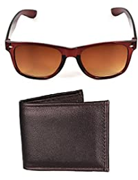 Mango People Combo Of Brown Sunglass And Wallet For Mens