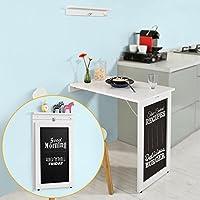 SoBuy FWT20-W Table Pliable Murale Bureau avec Mémo Board - Blanc