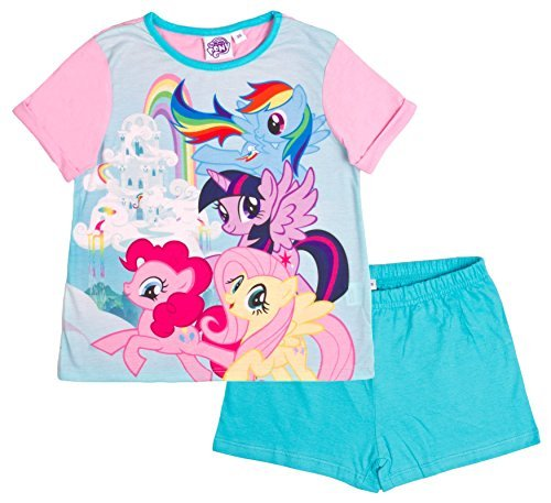 Girls My Little Pony MLP Rainbow Dash Applejack Shorty Pyjamas sizes from 1.5 to 5 Years