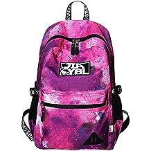Mujer Mochilas Escolares Mochila Galaxia Backpack Casual Colegio Bolso para Chicas