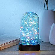 Amazon Brand - Solimo 40 LED Glass Jar Light for Home Décor, Battery Powered, Multicolor