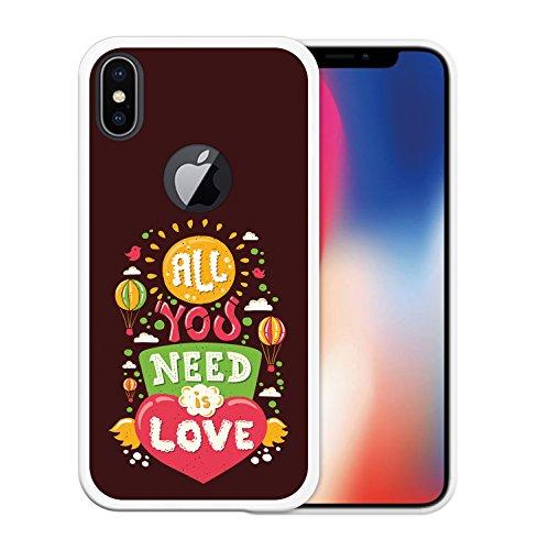 iPhone X Hülle, WoowCase Handyhülle Silikon für [ iPhone X ] Motivierungssatz - Impossible Handytasche Handy Cover Case Schutzhülle Flexible TPU - Transparent Housse Gel iPhone X Transparent D0227