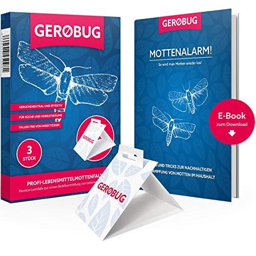 Gerobug Lebensmittel-Mottenfalle = 3 Stück + E-Book + Support vom Experten - Motten Kleider-falle