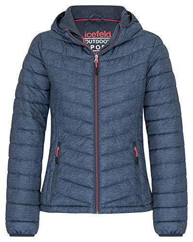 icefeld Damen Jacke/Steppjacke/Isolationsjacke, Marineblau-meliert in S