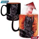 Herr der Ringe - Keramik Thermoeffekt Tasse Riesentasse 460 ml - Sauron - EIN Ring Sie zu knechten - Geschenkbox