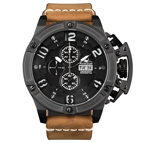 infantry-mens-analogue-quartz-wrist-watch-flyback-chronograph-genuine-leather-band-waterproof