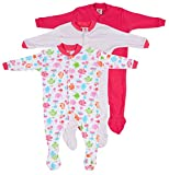 #9: Baby Grow Minni Berry Long Sleeve Cotton Sleep Suit Romper Set of 3 For Girls (3-6M)