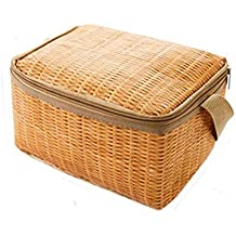 Bolsa de almuerzo portátil térmica Bolsa del almuerzo Aislado Lienzo frío Raya Picnic Carry Case