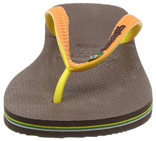 Havaianas Brasil Mix 4123206, Infradito Unisex – Adulto Marrone (Dark Brown/Orange 4304)