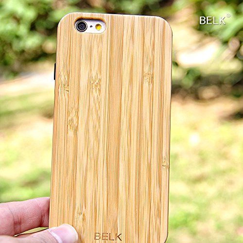 "iPhone 6 Plus Fall, iPhone 6 Plus Hard Case, BELK 2. Gene ""FLEX Edge"" Series Soft Gel-seitig [Einfache Snap-On] Laub Fälle mit Durable Verstärkte PC-Hybrid Back for iPhone 6 Plus - 5,5 Zoll, Bambus 1-bamboo"