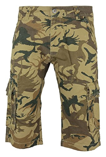 Combat Herren Short Grün Woodland Camo (Shorts-woodland Camo Combat)