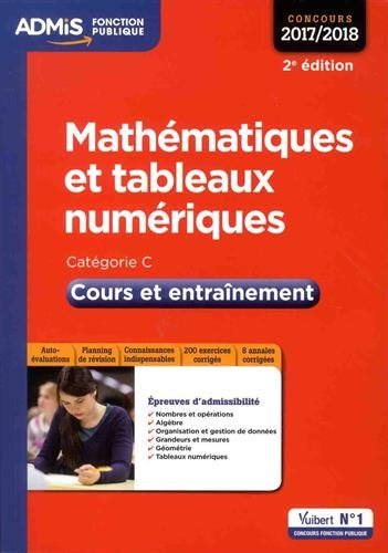 Mathématiques et tableaux numériques - Cours et entraînement - Catégorie C