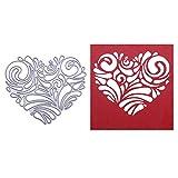 Lazzboy Fustelle Natale Scrapbooking Metallo Stencil Paper Card Craft per Sizzix Big Shot/Altre Macchine(G, Amore Pizzo)